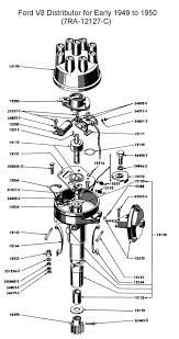 flathead electrical wiring diagrams ford distributor for 1949 to 50 v8
