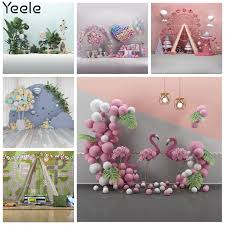 <b>Yeele Photocall Tropical</b> Balloon Birthday Backdrop Flamingo Baby ...
