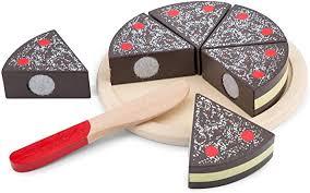 New Classic Toys 10584 <b>Wooden Pretend</b> Play <b>Kids</b> Cutting Cake ...