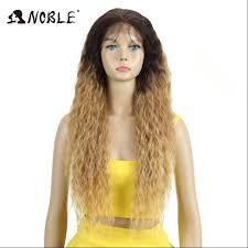 <b>Noble Hair Lace Front</b> ombre blonde Wig 30 inch Long wavy red ...