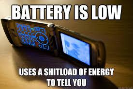 Hasil gambar untuk low battery meme