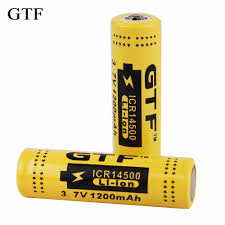 <b>GTF original 3.7v 1200mah</b> real li on high discharge battery 14500 ...