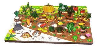 Купить <b>деревянная игрушка</b> для малышей ТД <b>Бэмби</b> Овощи на ...
