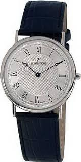 Мужские <b>часы Romanson</b> Leather <b>TL5110SMW</b>(<b>WH</b>)