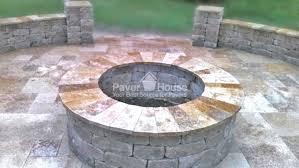 brick fire pit pavers