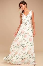 Romantic Possibilities <b>White Floral Print</b> Maxi Dress $109