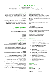 curriculum vitae  cv  examples and writing tips   resumeseed com    cv example curriculum vitae examples for students anthony roberts