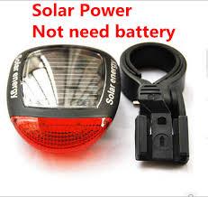 <b>Solar Power LED Bicycle</b> Lights Bike Rear Tail Lamp Light Bike ...