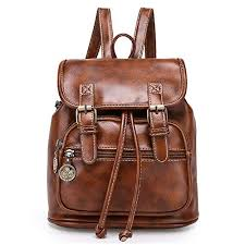 <b>Women</b> Mini Backpack Purse Fashion <b>Retro PU Leather</b> Rucksack