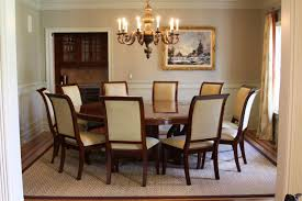 Dining Room Table Size For 10 Accommodate The Crowd With Round Dining Room Tables For 10