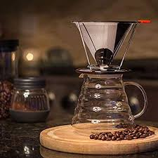 coffee dripper geometric reusable pour over filter stand permanent for marker