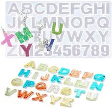Number Alphabet Resin Silicone Mold <b>26 English Letters</b> DIY ...