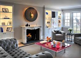 ideas for alcoves in living rooms living room contemporary with union jack built in cabinet built living room