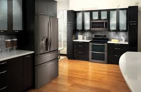 black and stainless kitchen lg black stainless steel series lifestyle image