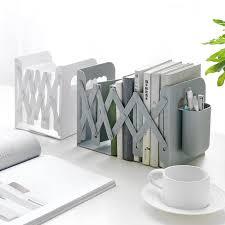 Durable and Convenient Wrought <b>Iron Metal Three Grid</b> Bookshelf ...