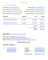business invoice template excel pdf word doc