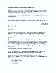 harassment complaint letter cover letter sample sample