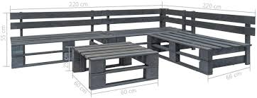 Festnight <b>4 Piece Garden Lounge</b> Set Outdoor Pallets Bench Set ...