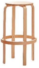 Set Of <b>2 Stacking</b> Bar <b>Stools</b> Birch Wood Breakfast Round Chair ...