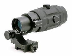 TMS <b>Tactical 3x Magnifier Scope</b> With Quick Flip to Side FTS Mount ...