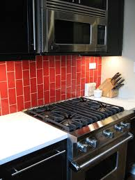 reclaimed ceramic tiles bedrock decorations classic red glass subway tile in tomato modwalls home deco