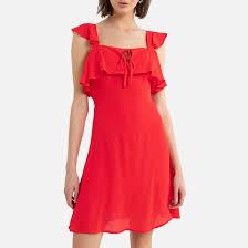 <b>Платье короткое</b> без рукавов красный <b>La Redoute</b> Collections | La ...