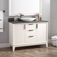 modero double vessel sink vanity white quot talyn mahogany vessel sink vanity white