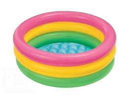 <b>Детский</b> круглый <b>бассейн Intex 57412</b> с надувным дном 114х25