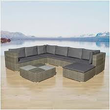 K&A Company Outdoor Furniture Set, <b>8 Piece Garden Lounge</b> Set ...