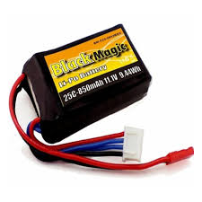 <b>Аккумулятор BLACK MAGIC</b> LiPo <b>11.1V</b> (3S) 850mAh 25C Soft ...