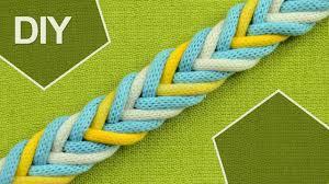 DIY: Easy <b>8</b>-<b>Strand</b> Flat Arrow Braid in 3 <b>colors</b> - YouTube
