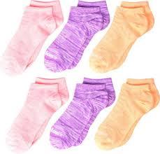 New Balance unisex-child 6 Pack Flat Knit No Show ... - Amazon.com