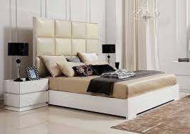 awesome modern white bedroom furniture with wonderful beige leather headboard bed design ideas and beautiful and bedroom furniture modern design