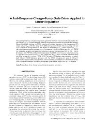 (PDF) A Fast-Response Charge-Pump Gate Driver Applied to Linear ...