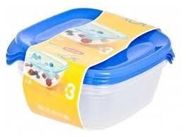Купить <b>CURVER</b> Набор <b>контейнеров</b> для СВЧ <b>FRESH &</b> GO 0.8 л ...