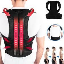 <b>Adjustable Posture Corrector Back</b> Brace <b>Lumbar Shoulder</b> Support ...