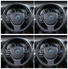 DIY 38cm <b>Steering</b> Wheel Covers Soft 100% Cowhide Genuine ...