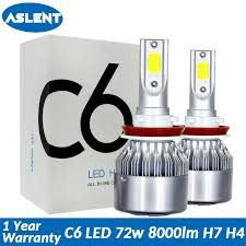 <b>Aslent C6</b> led Car Headlight H7 LED H4 Bulb HB2 H1 H3 H11 HB3 ...