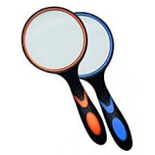 <b>Лупа</b> ручная круглая <b>8х</b>-65мм (резиновая двуцветная ручка ...