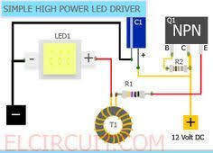 Simple <b>10W</b> High Power LED Driver Circuit | Led alta potencia ...
