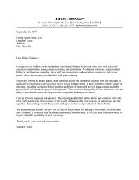 entry level human resources cover letter human resources cover letters