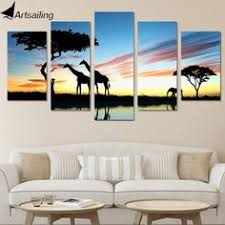 wall art canvas painting <b>5 piece HD print</b> Island posters and prints ...