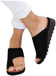 2019 New Women Comfy Platform Toe Ring Wedge ... - Amazon.com