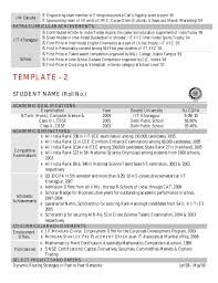 cv template by kgp      template