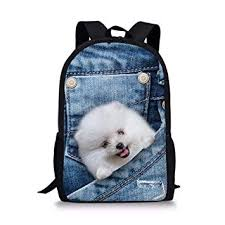 HUGS IDEA Animal Printing Backpack for Kids Denim ... - Amazon.com
