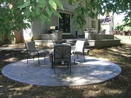 concrete outdoor patio ideas stone fire stamped concrete design ideas rotating ashlar blue stone stamped concr