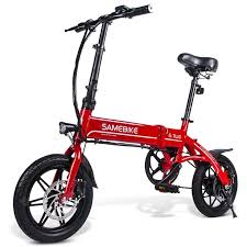 Buy <b>Samebike YINYU14 Smart Folding</b> Bicycle Moped Electric Bike ...