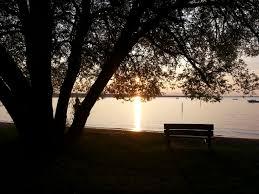 northern michigan gem chick in the mitt sunset over burt lake