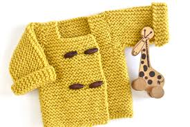How to <b>Knit</b> a Toggle Button <b>Baby Sweater</b>