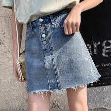 <b>Loyalget</b> Women Summer <b>Denim Skirts High</b> Waist Skirts Plus Size ...